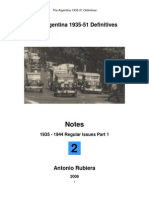 2008 Notes No. 2 Argentina 1935-51 Definitives