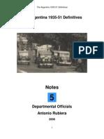 2008 Notes No. 5 Argentina 1935-51 Definitives