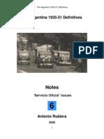 2008 Notes No. 6 Argentina 1935-51 Definitives