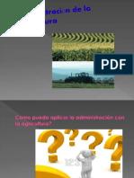 Administración de la agricultura
