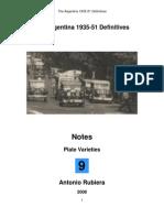 2008 Notes No. 9 Argentina 1935-51 Definitives