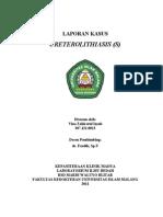 Cover Laporan Kasus Ureterolithiasis