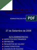 La Funcion Publica y El Acto Administrativo