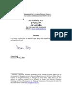 Risk Management for External Finance- Tarun Das