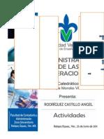 Actividades de Administracion de Las Operaciones -Angel Rodriguez Castillo