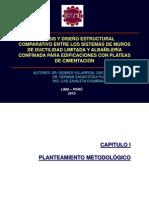 ANALISIS Y DISEÑO ESTRUCTURAL COMPARATIVO ENTRE SISTEMA DE MUROS DE DUCTILIDAD LIMITADA Y ALABAÑILERIA CONFINADA PARA EDIFICACIONES CON PLATEAS DE CIMENTACION