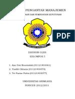 makalah pengantar manajemen