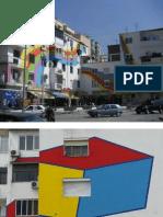 The colorful buildings of Tirana, capital of Albania