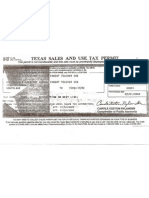 OUES Tax Exempt Certificate PDF