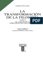 Apel La Transformacion de La Filosofia Tomo 2
