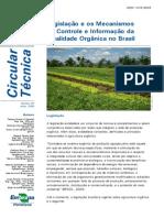 legislação de hortaliças organicas no Brasil