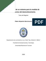 Tesis. Desarrollo de Un Sistema Para La Medida de Los Efectos de Deslumbramiento.