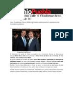 01-10-2013 Sexenio Puebla - Asiste Moreno Valle al VI informe de su homólogo de BC