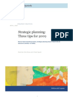 Strategic Planning Three Tips for 2009