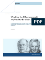 Weighing US Government Response to Crisis