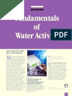 Fundamentals of water activity