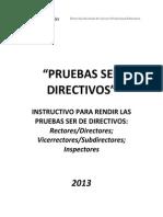 Pruebas Ser Directivos 2013