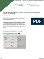 Creación de los discos de Recuperación de Sistema Operativo Linux
