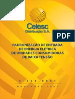 CELESC-PADRÃO DE ENTRADA BT-RESIDENCIAL