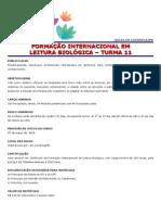 Ementa Internacional Leitura Biologica Londrina DEZEMBRO-2013