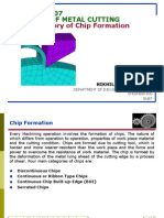 Theory of Metal Cutting-Theory of Chip Formation