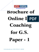 Brochure of Online IAS Coaching for GS Paper 1