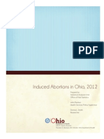 Induced Abortions in Ohio 2012