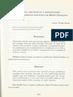 Estado, excedente y mediaciones en el pensamiento político de René Zavaleta- Jaime Ortega Reyna