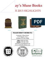 Yesterday's Muse Books, ABAA October 2013 Highlights Catalog