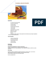 Cata_Pudín de Pan con Naranja y Salsa de Amaretto