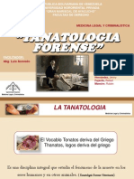 PRESENTACION TANATOLOGIA FORENSE