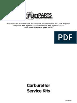 Fiat 850 Special-Coupe;Zastava 850,Weber 30 DIC Rep.Kit