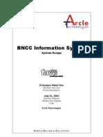 BNCC Information System - Member Services Design