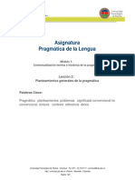 Modulo 1 Leccion 2 Planteamientos Generales de La Pragmatica