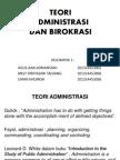 Teori Ilmu Administrasi & Birokrasi