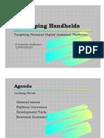 Developing Handhelds - Slides 1pp