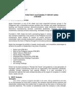 Analysis of Ayala Corporation sustainability report 2008