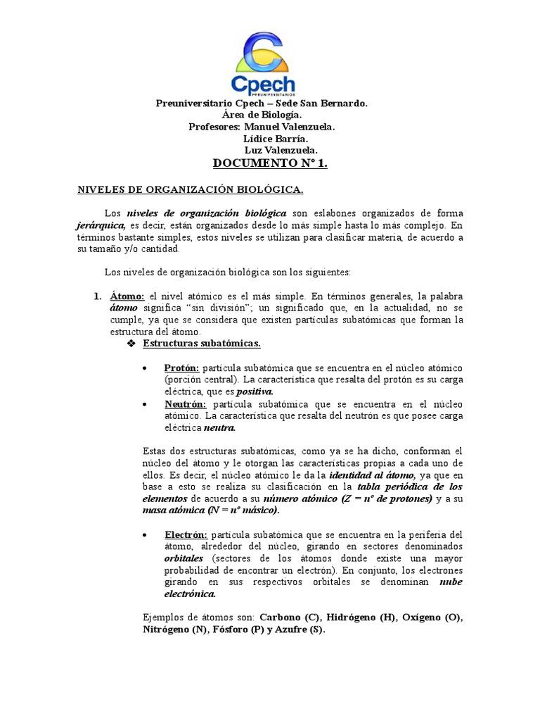 Niveles de organizacin biolgica urtaz Image collections