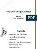 Golf Swing Analyzer Sample Presentation