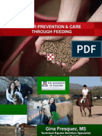 Equine Ulcer Prevention and Care Through Feeding - Presentation by Gina Fresquez, MS