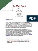 The Holy Spirit of Yahweh Revealed