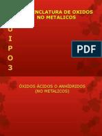 Nomenclatura de Oxidos No Metalicos
