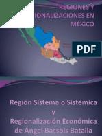 REGIONES Y REGIONALIZACIONES EN MÉXICO