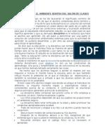 LA DISCIPLINA Y EL AMBIENTE DENTRO DEL SALÓN DE CLASES
