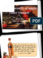 Health Benefit of Apple Cider Vinegar