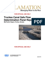 Truckee Canal Safe Flow Panel Report
