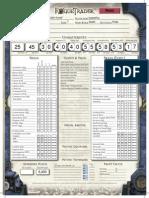 Rogue Trader Character Sheet John