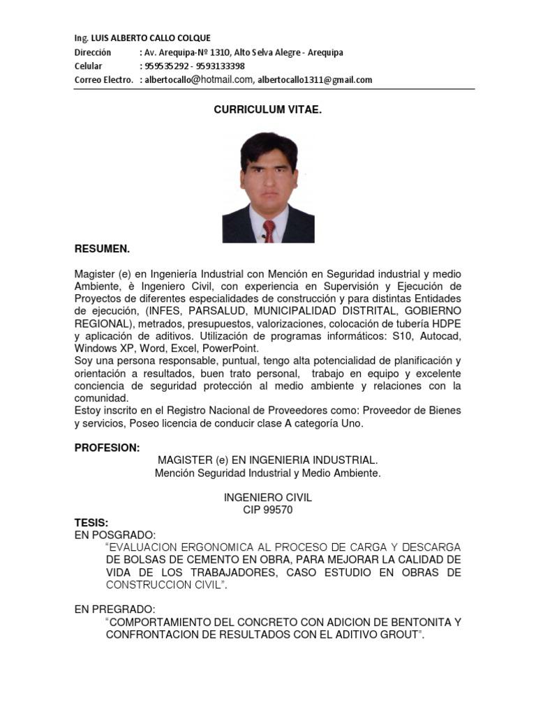 Increíble Ingeniero De Procesos Químicos Curriculum Vitae Pdf Ideas ...