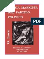 Lora_Teoría marxista del partido