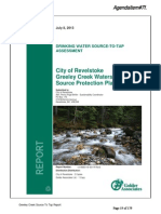 City of Revelstoke Greeley Creek Watershed Source Protection Plan 2013
